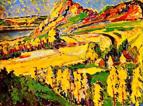 نقاشی پاییز در فرانسه، اثر امیلی کار در سال ۱۹۱۱