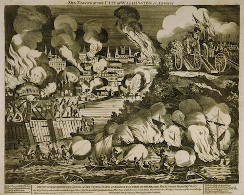 بهدنبال پیروزی در نبرد بلیدنزبرگ، نیروهای بریتانیایی وارد واشینگتن دی.سی میشوند