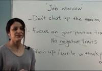 آموزش زبان انگلیسی – نکاتی که باید زمان مصاحبهٔ شغلی در نظر بگیریم