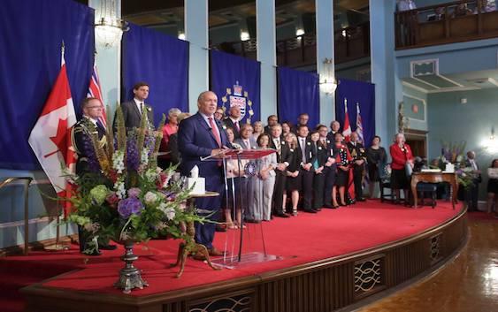 نخستوزیر جان هورگان دولت جدید خود برای ساختن فردای بهتر بریتیش کلمبیا را معرفی کرد