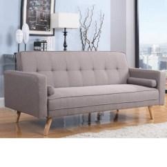 Grey Fabric Sofa Uk Full Size Air Dream Sleeper Replacement Mattress Ethan Bed