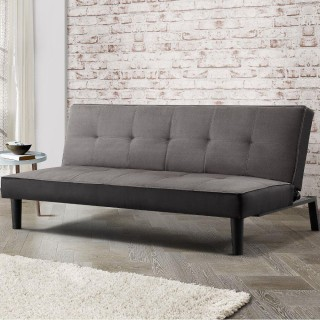 orthopedic sofa bed uk best quality leather recliner beds happy aurora grey fabric