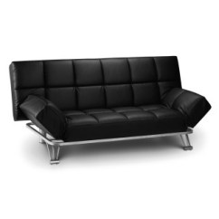 Orthopedic Sofa Bed Uk Chairs For Sale In Ghana Beds Happy Manhattan Black Faux Leather