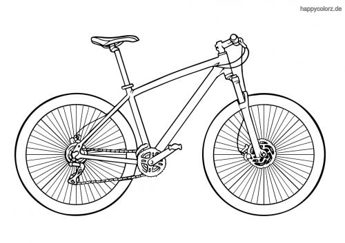 Fahrrad Bilder Zum Ausmalen