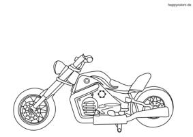 Motorrad Zeichnung Zum Ausmalen   Ausmalbilder