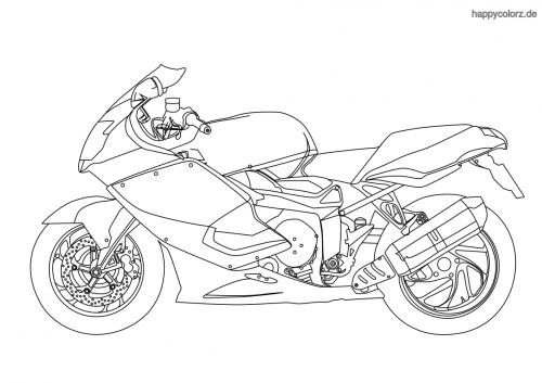 Malvorlagen Kinder Motorrad   INDONE.ME
