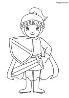 Ritter Malvorlagen kostenlos » Ritter Ausmalbild