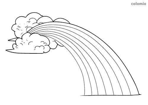 Regenbogen Malvorlage kostenlos » Regenbögen Ausmalbilder