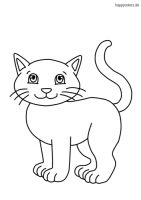 Katzchen Ausmalbild