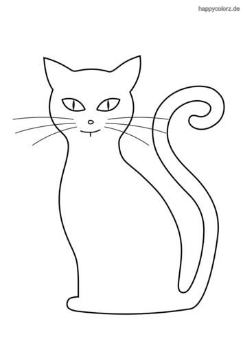 Katze Malvorlage kostenlos » Katzen Ausmalbilder