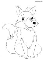 Fuchs Malvorlage kostenlos » Füchse Ausmalbilder