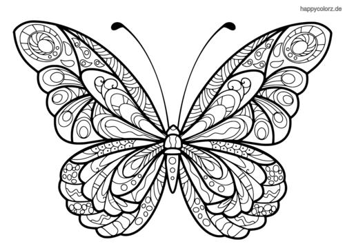 Ausmalbilder Schmetterling Einfach