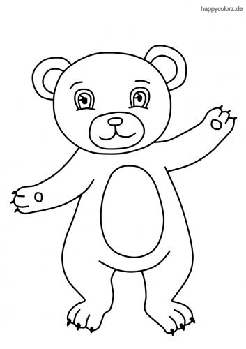 Bär Malvorlage kostenlos » Bären Ausmalbilder