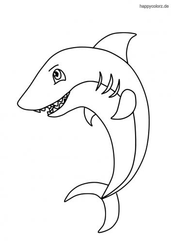 Weißer Hai Zum Ausmalen - Malvorlagen