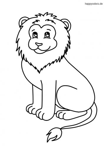 Löwe Malvorlage kostenlos » Löwen Ausmalbilder