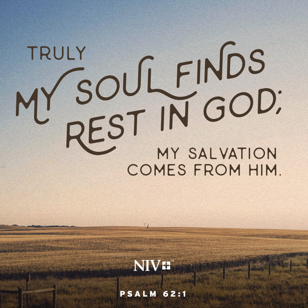 NIV Verse of the Day: Psalm 62:1