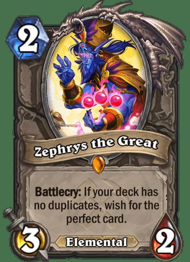 zephrys the great hearthstone