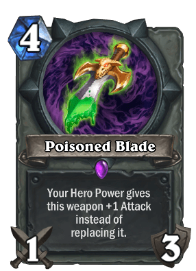 poisoned blade hearthstone cards