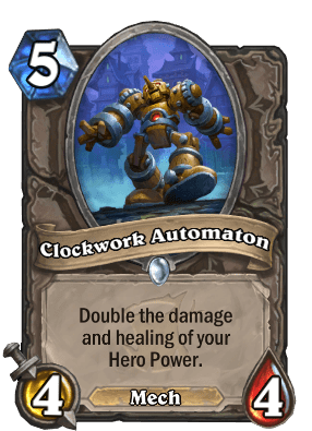 clockwork automaton hearthstone cards