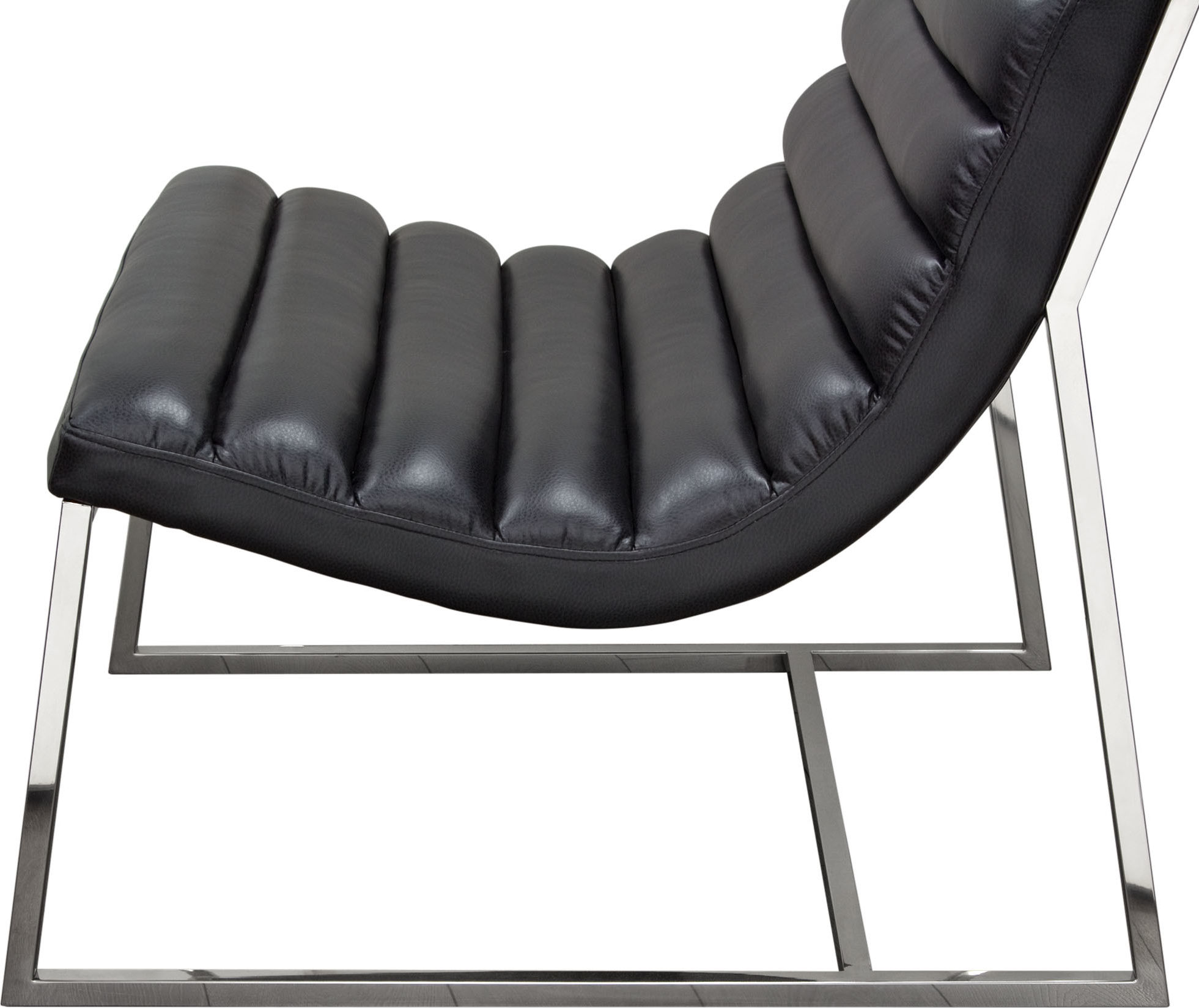 steel lounge chair air frame bardot w stainless hedgeapple