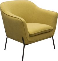 Status Accent Chair in Yellow Fabric with Metal Leg ...