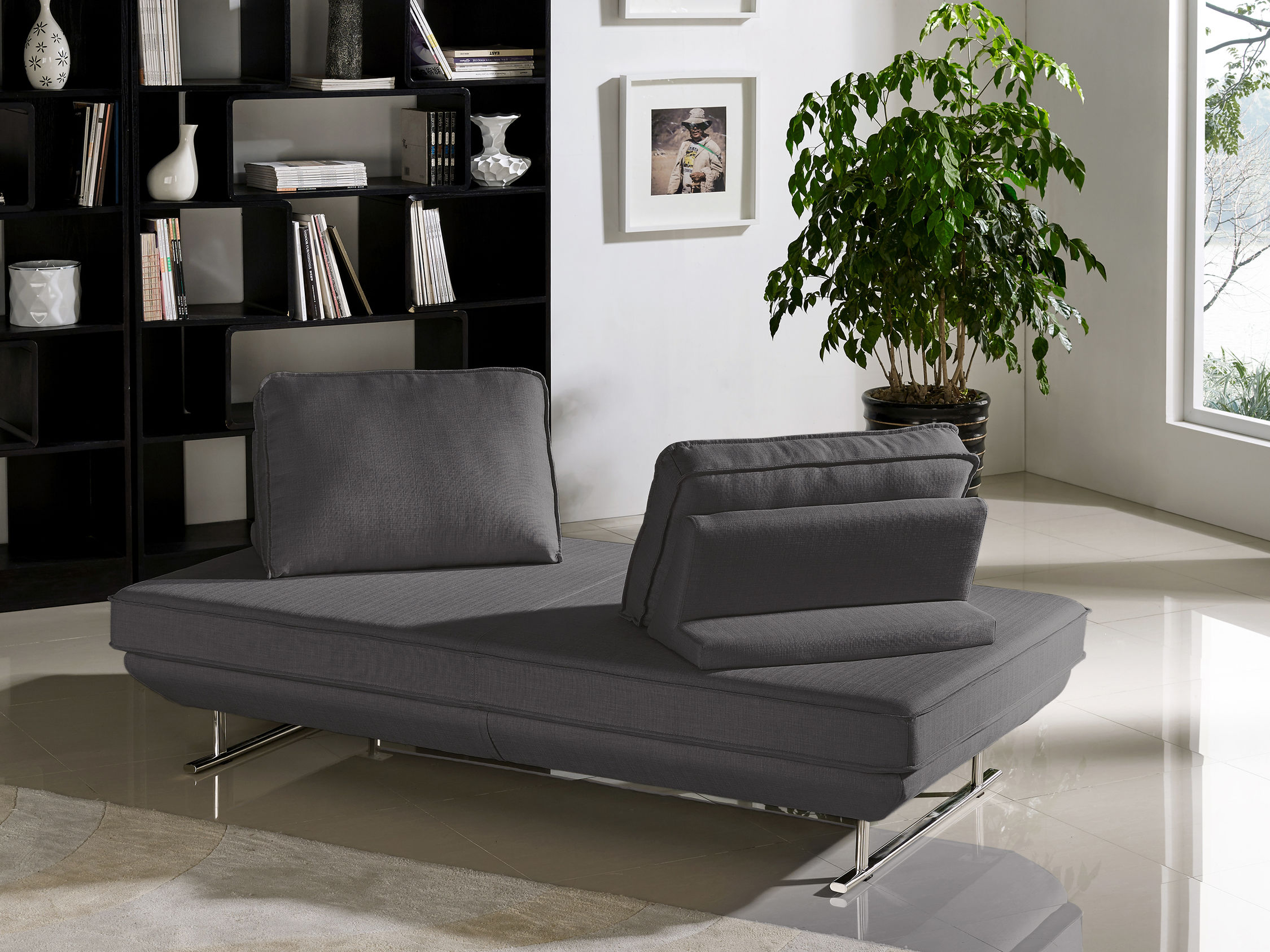 diamond sofa dolce fold out bed foam lounge seating platform with moveable backrest