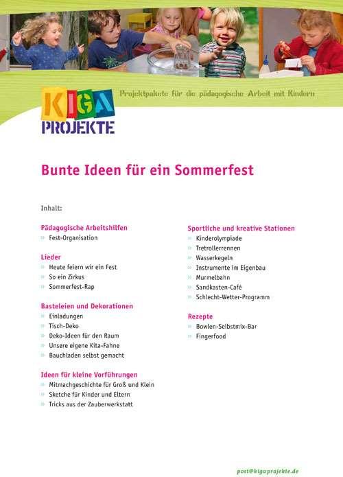 PDF Bunte Ideen fr ein Sommerfest kigaprojekte  Herderde