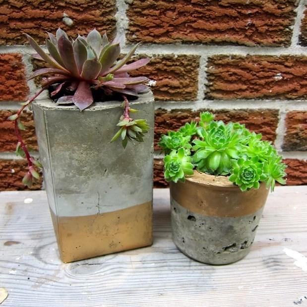Resultado de imagem para diy cement planters