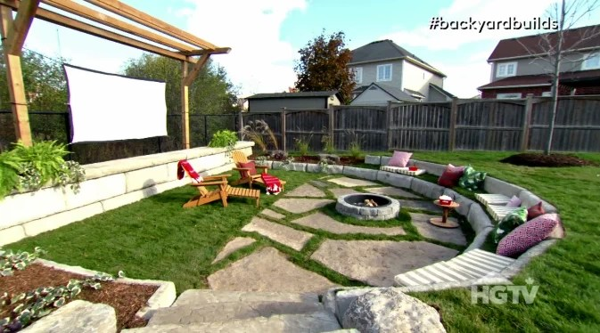 Backyard Builds Video Outdoor Theatre HGTVca