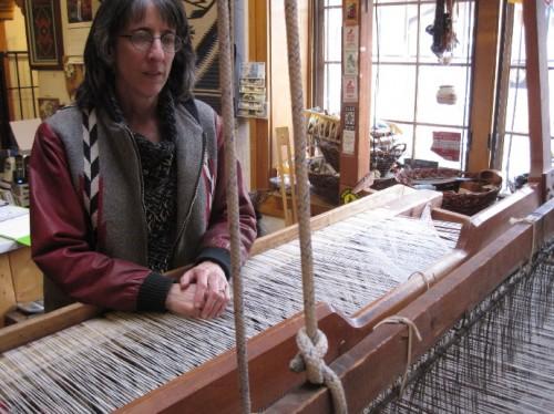lisa at the loom