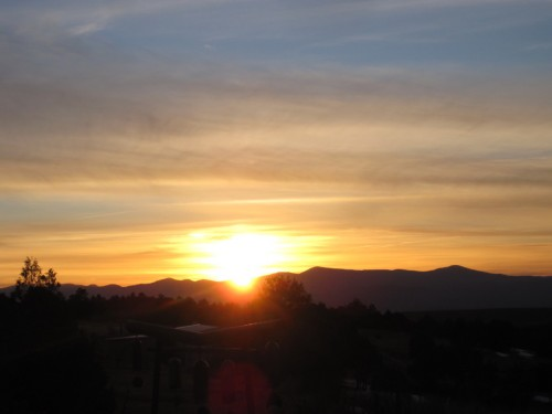truchas, new mexico sunset