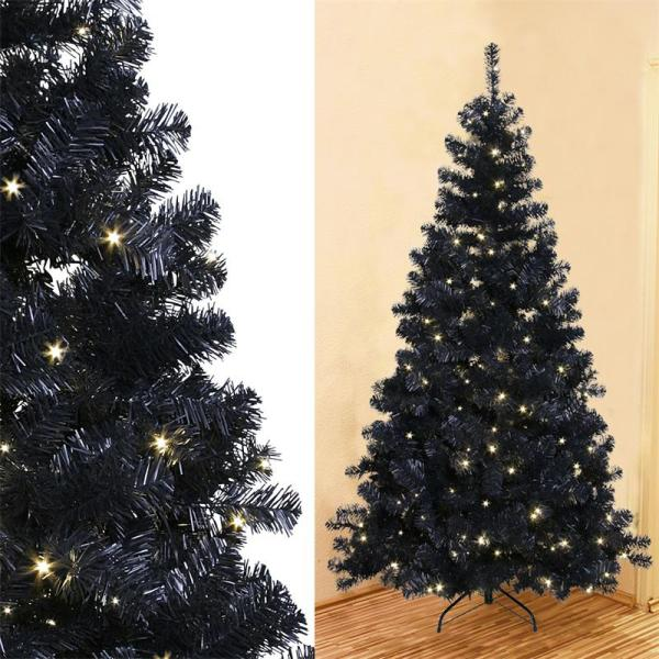 Artificial Christmas Tree Outdoor Indoor With Led Lighting And Stand