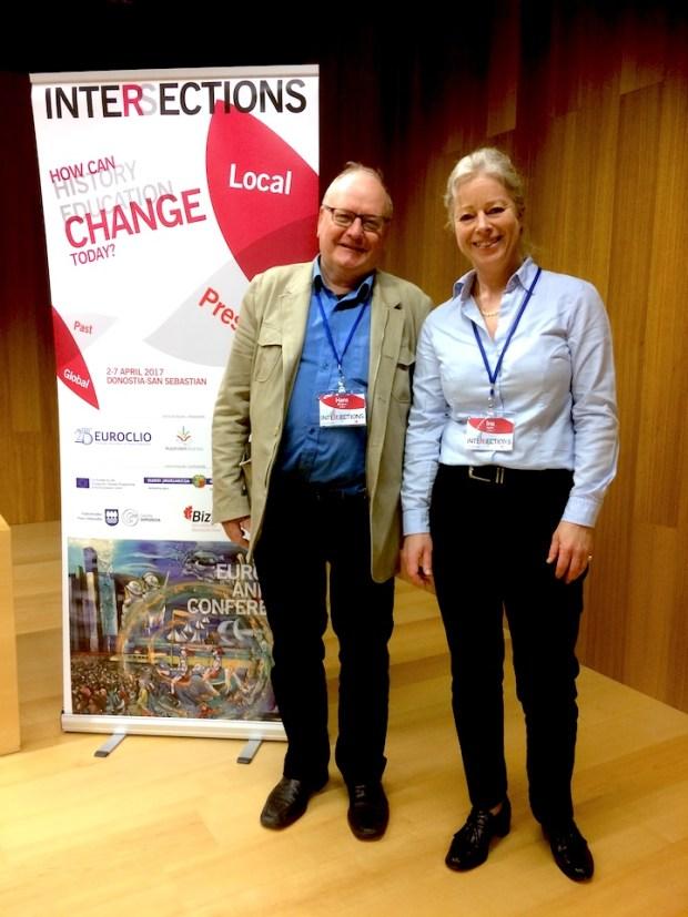 Hans Almgren och Ina Nyfelt på EUROCLIO 2017