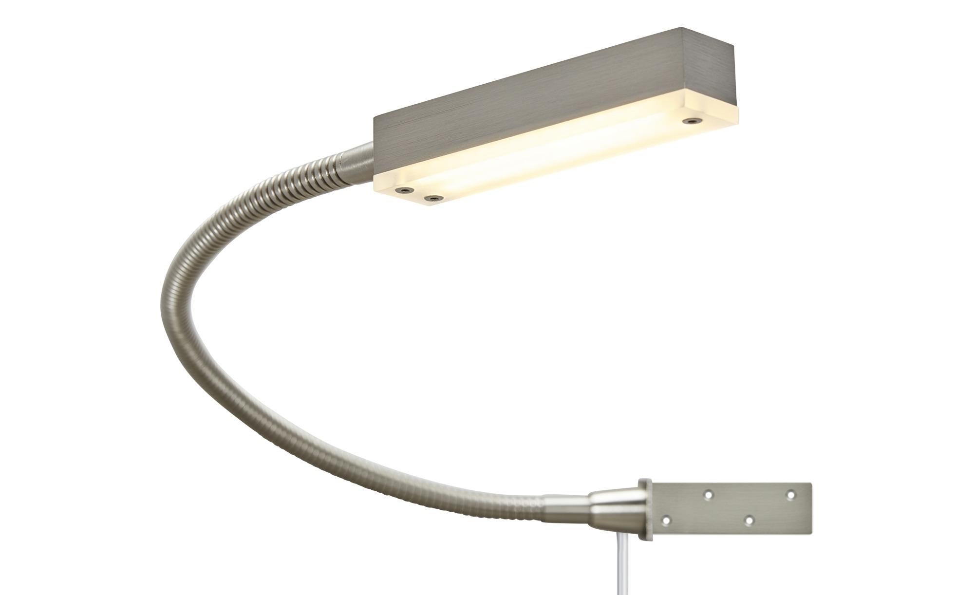 Bettleuchte Led Fischer-honsel Led-bettleuchte, 1-flammig, Nickel Matt