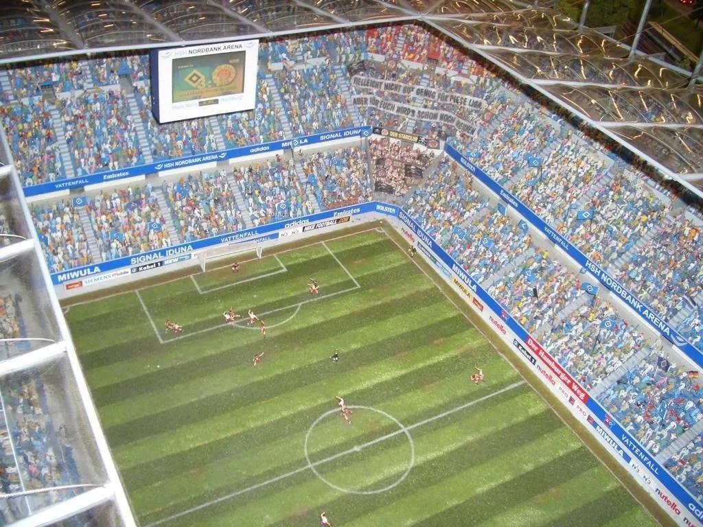 bild hsv stadion zu miniatur
