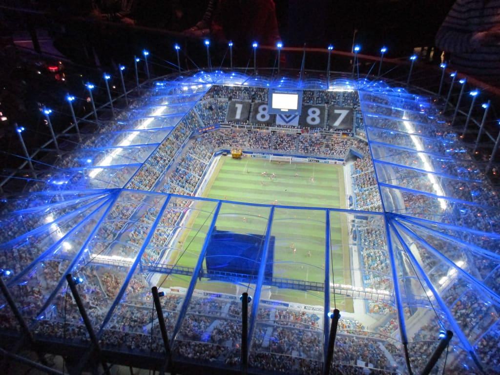 bild hsv stadion in nachtlicher