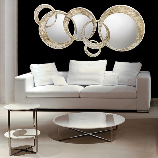 Cerchi Specchiera di design con cornice in mdf h11981
