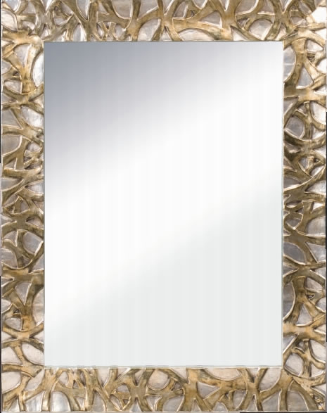 Cerchi Specchio reversibile con cornice in legno h3909