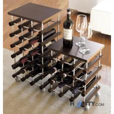 Portabottiglie vino da parete da terra e da tavolo