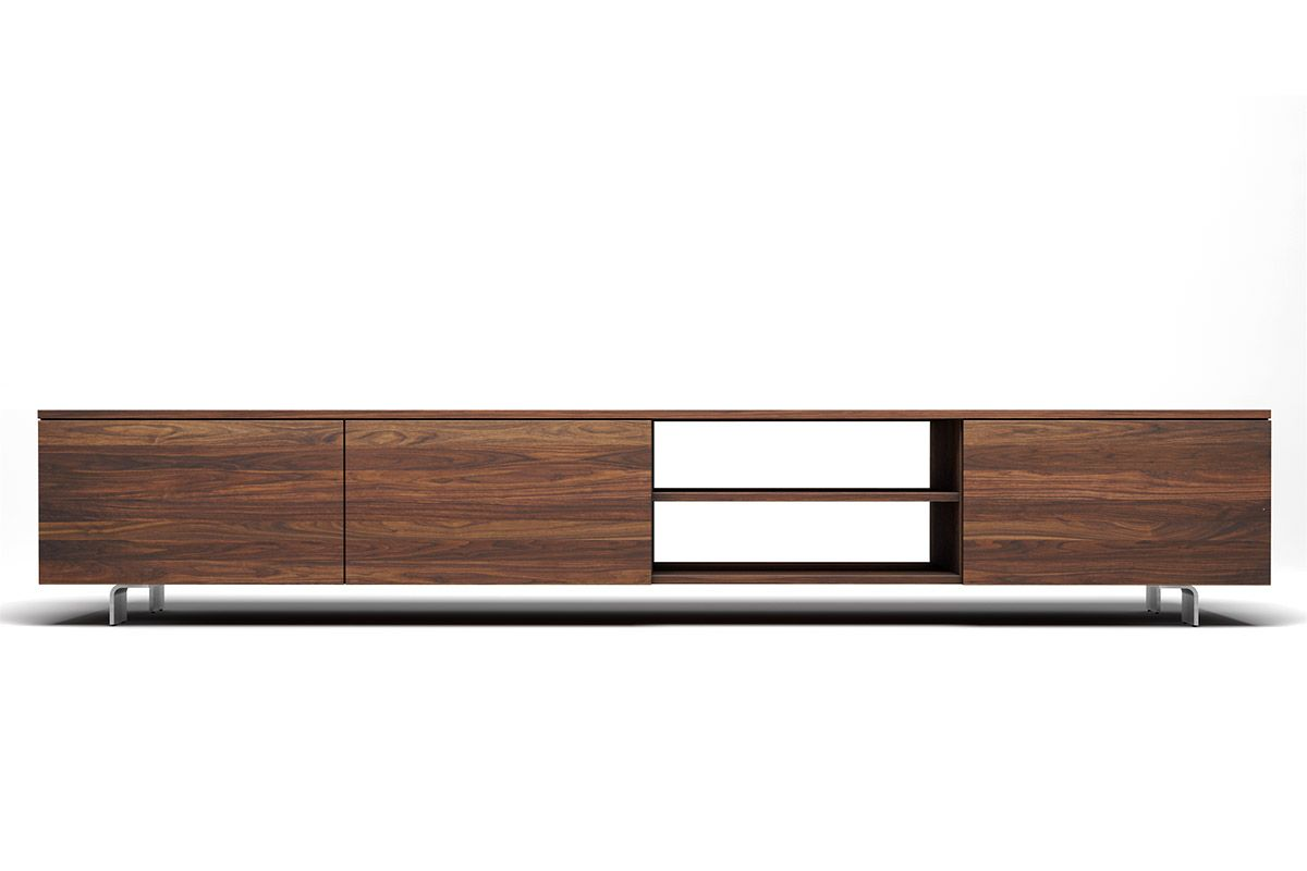 Tv Tisch Niedrig Tv Schrank Massives Akazienholz 100 X 35 X 45 Cm
