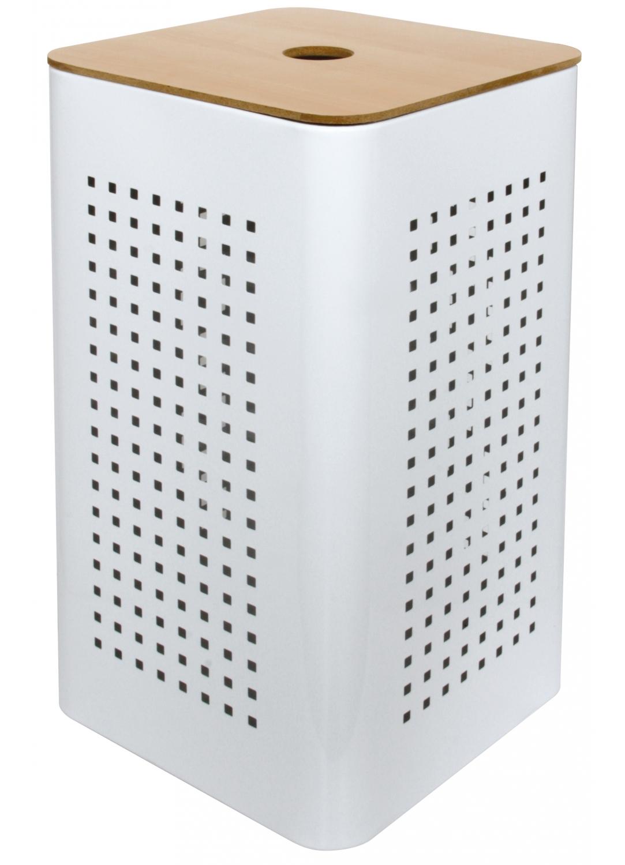 Panier A Linge Pm Metal White Blanc Homebain Vente En Ligne Paniers A Linge