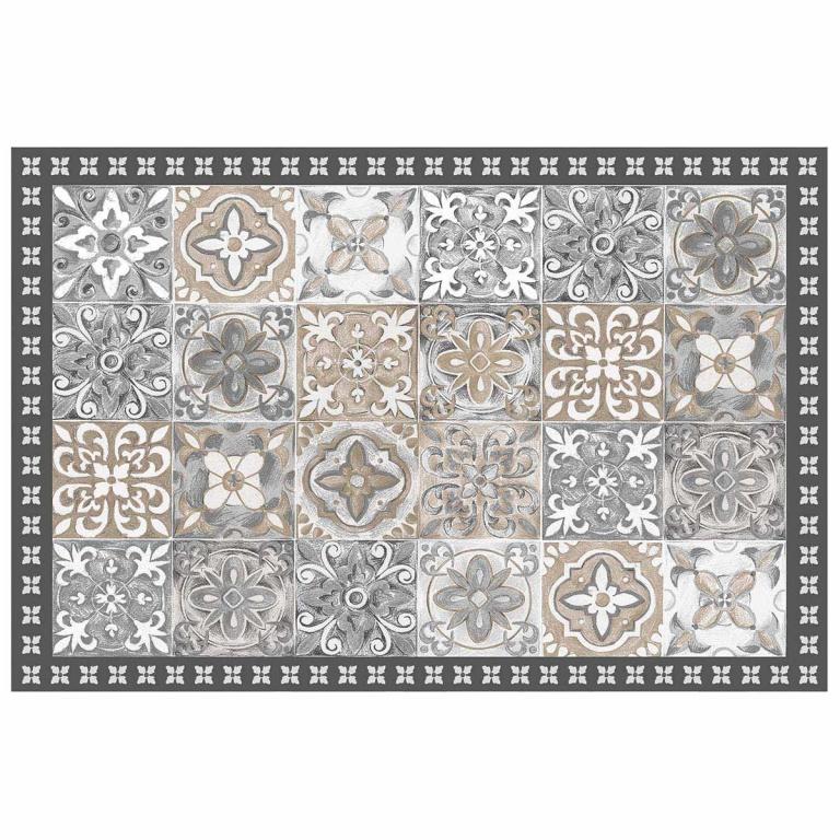 tapis en vinyle effet carreaux de