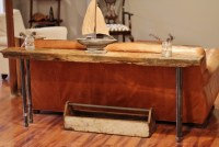 How To Make A Simple Rustic Homemade Wood & Iron Table