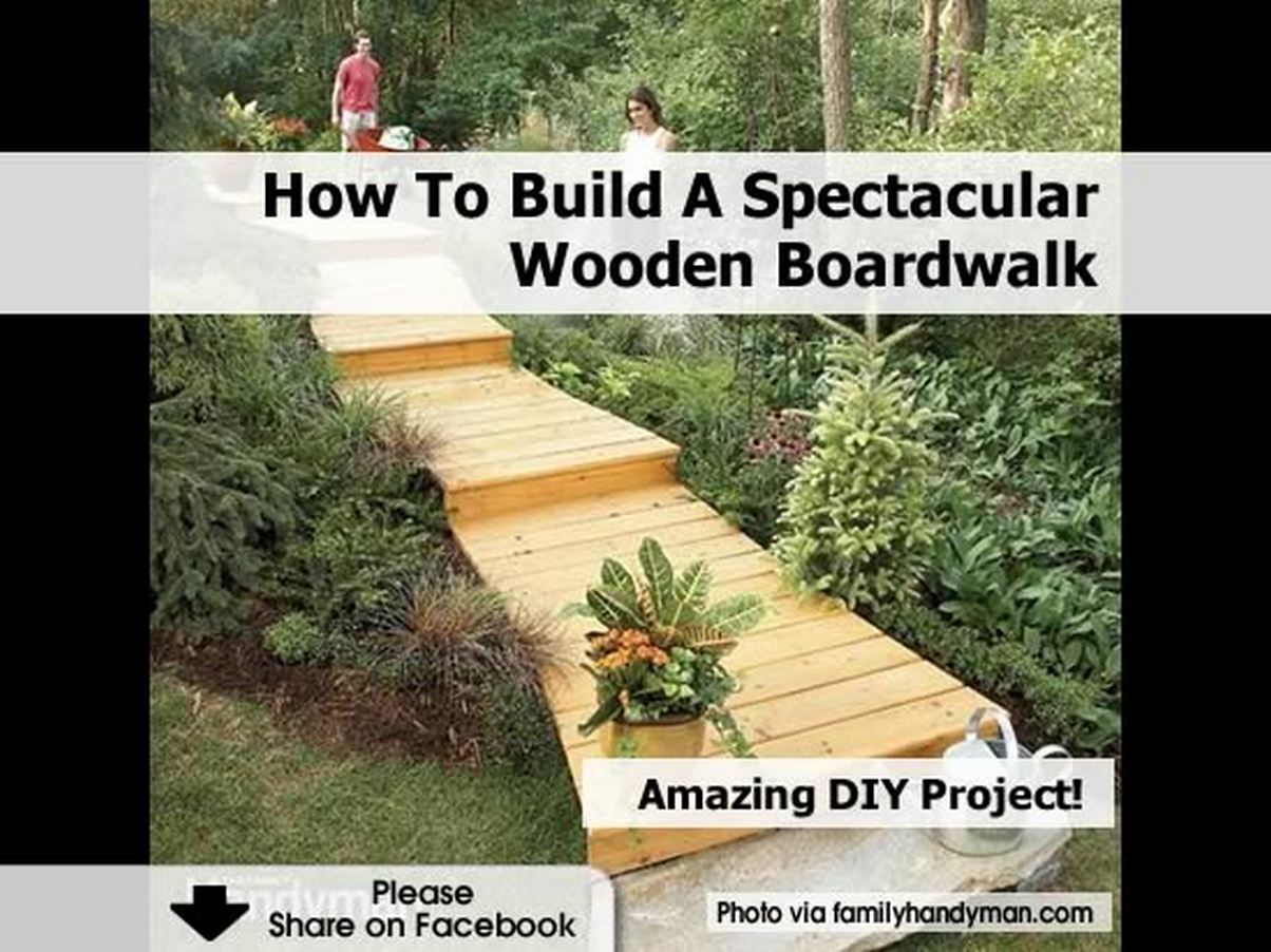 How To Build A Spectacular Wooden Boardwalk
