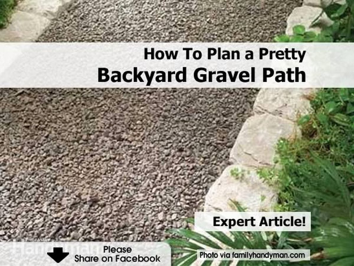 How To Plan a Pretty Backyard Gravel Path