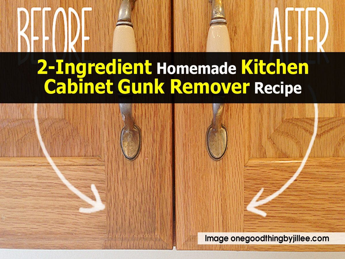 kitchen cabinet cleaner recipe lazy susan 2 ingredient homemade gunk remover