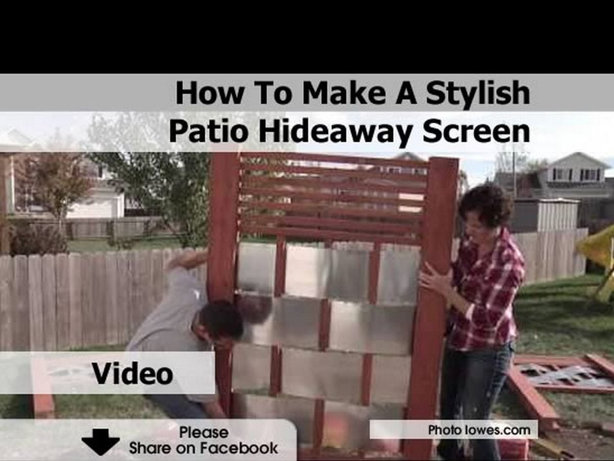 How To Make A Stylish Patio Hideaway Screen