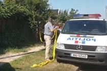 Politia la locuinta suspectului din Caracal