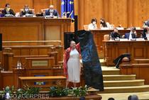 Diana Sosoaca a făcut scandal in Parlament