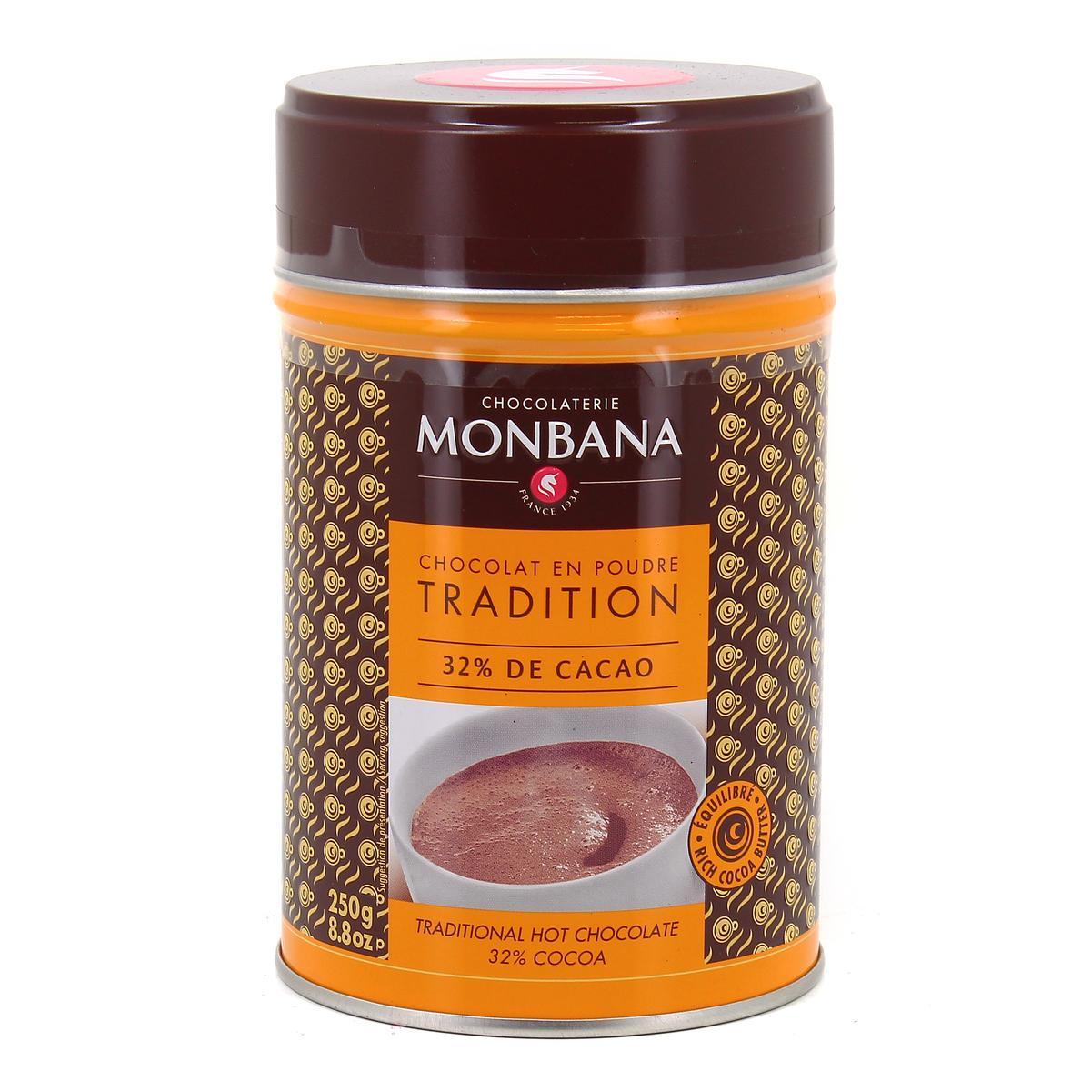 achat vente chocolaterie monbana chocolat en poudre tradition 250g